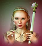 Pérola cor-de-rosa, 3d CG ilustração do vetor