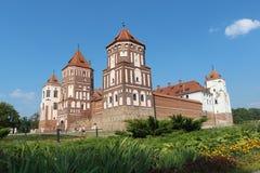 A pérola de Bielorrússia - castelo do RIM antigo Fotografia de Stock Royalty Free