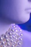 Pérolas azuis imagem de stock royalty free