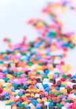 Pérolas coloridas Imagens de Stock
