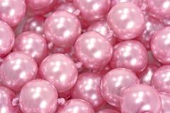 Pérolas cor-de-rosa Imagem de Stock Royalty Free