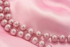 Pérolas cor-de-rosa Fotografia de Stock Royalty Free