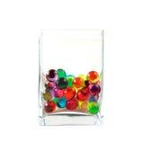 Pérolas do banho no frasco de vidro Imagens de Stock Royalty Free