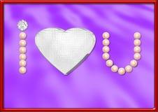 Pérolas e diamantes Foto de Stock