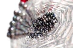 Pérolas pretas em um vaso Fotografia de Stock Royalty Free