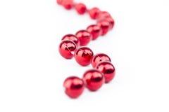 Pérolas vermelhas Fotos de Stock Royalty Free