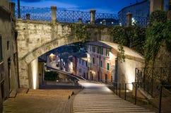 Pérouse par l'intermédiaire d'Appia Photo libre de droits