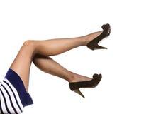 Pés bonitos na meia-calça agradável Imagens de Stock Royalty Free