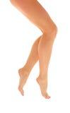 Pés com os pés descalços magros da mulher Imagem de Stock Royalty Free