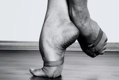 Pés contemporâneos do dançarino Imagem de Stock Royalty Free