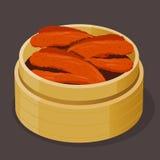 Pés cozinhados Dim Sum de Chcicken do chinês Fotografia de Stock Royalty Free