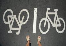 Pés da bicicleta fotografia de stock royalty free