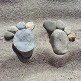 Pés da rocha Fotografia de Stock
