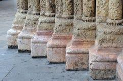 Pés das colunas do Romanesque Fotos de Stock