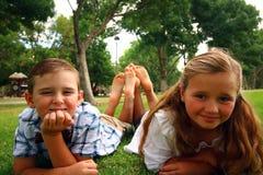 Pés das crianças Fotos de Stock Royalty Free