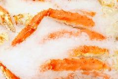 Pés de caranguejo frescos Fotos de Stock Royalty Free