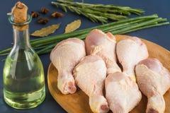 Pés de galinha crus crus Imagens de Stock