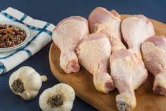 Pés de galinha crus crus Imagens de Stock Royalty Free
