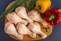 Pés de galinha crus crus Fotografia de Stock Royalty Free
