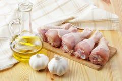 Pés de galinha crus Fotos de Stock
