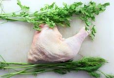 Pés de galinha crus Foto de Stock