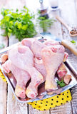 Pés de galinha crus Imagens de Stock