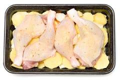 Pés de galinha crus fotografia de stock royalty free