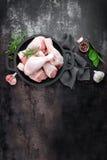 Pés de galinha crus Fotografia de Stock