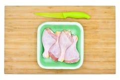Pés de galinha crus limpos frescos drumsticks fotografia de stock royalty free