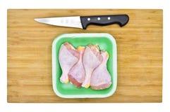 Pés de galinha crus limpos frescos drumsticks fotografia de stock