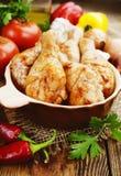 Pés de galinha Roasted fotografia de stock