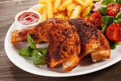 Pés de galinha Roasted fotografia de stock royalty free