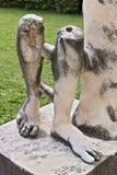 Pés de mármore de uma escultura romana imagens de stock royalty free