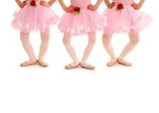 Pés do bailado das crianças em Demi Plie Imagens de Stock Royalty Free