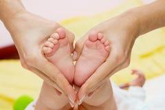 Pés do bebê Foto de Stock