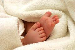 Pés do bebê Fotos de Stock