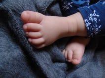 Pés do bebê Foto de Stock Royalty Free
