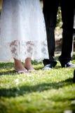 Pés do casamento Imagem de Stock