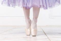Pés do close-up da bailarina nova Imagens de Stock Royalty Free