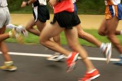 Pés dos corredores Foto de Stock Royalty Free
