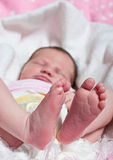 Pés e dedos do pé dos bebês Imagem de Stock