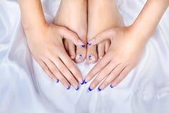 Pés e mãos saudáveis Fotografia de Stock Royalty Free