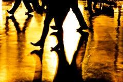 Pés e sombras abstratos Fotografia de Stock Royalty Free