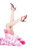 Pés em estiletes vermelhos Imagem de Stock Royalty Free