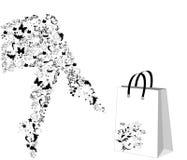 Pés estilizados florais ilustração do vetor