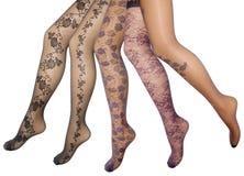 Pés fêmeas na meia-calça Fotos de Stock Royalty Free