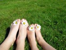 Pés felizes do verão Foto de Stock Royalty Free
