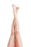 Pés masculinos magros Imagem de Stock Royalty Free