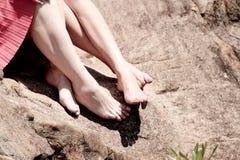 Pés, pés Imagem de Stock