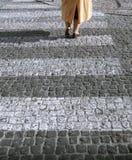 Pés - rua Fotografia de Stock